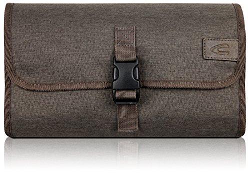 Camel Active Premium Kulturbeutel Rolle zum Aufhängen für Damen und Herren | Kulturtasche aus hochwertigem Nylon mit Haken | Hängeorganizer mit Steckschnallen-Verschluss | (beige)