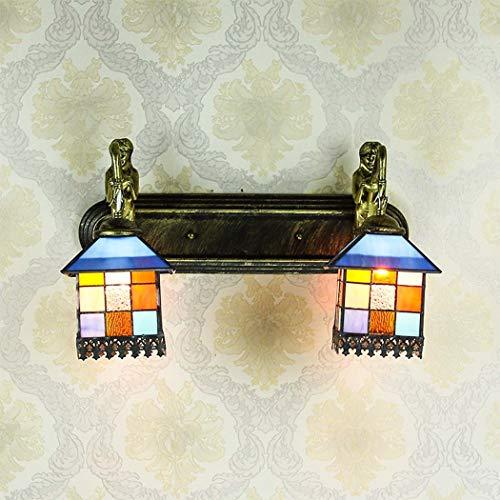 ZTJ-Lighting Apliques y Apliques de Pared Estilo Tiffany para Interiores, luz Delantera...
