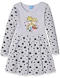 Disney Die Eiskönigin Elsa & Anna Mädchen Kleid - grau