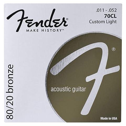Fender 70M Jeu de Cordes pour guitare folk