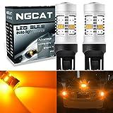 NGCAT 1800Lumen 10SMD 3020CREE 74437444NA 74407440NA 7441992LED-Leuchtmittel für Autos, ein Leuchtmittel Schwanz Bremse Stop LEDs, DC 12–16V (2-pack), Gelb