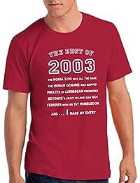 "Da Londra Boys The Best Of 2003"" 15th Birthday T Shirt Gift, 100% Soft Cotton"