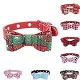 Huhuswwbin Hundehalsband, modisch, mit Schleife, verstellbar, Größe XS