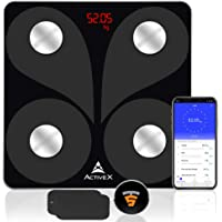 ActiveX (Australia) Savvy Bluetooth Body Fat Scale Smart BMI Scale Digital Bathroom Weight Scale, Body Weight Scale with Smartphone App + FREE Magback Multimount Mobile Holder (Launch Offer)