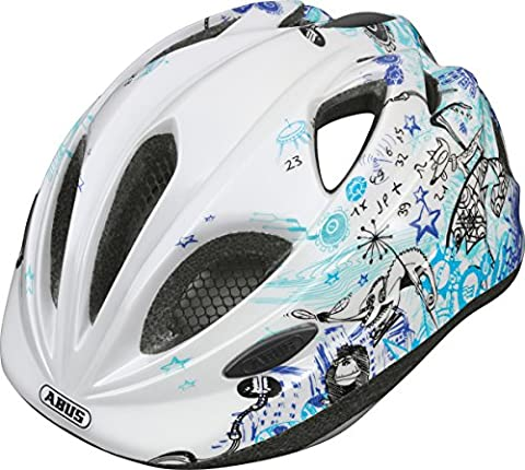 Super Blue Scribble Abus Helmet Chilly, S (46-52