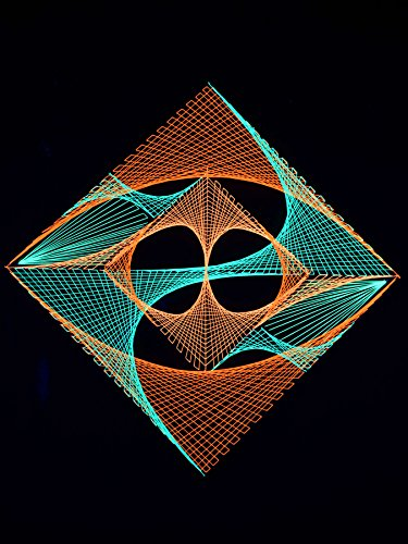 2D StringArt Fadendeko Neon World, 90cm ()