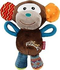 GiGwi Monkey 'Plush Friendz' with squeaker, Medium