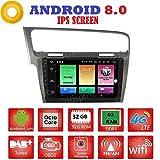 ANDROID 8.0 FULL-TOUCH 10.1 pollici IPS 4GB-RAM 32GB ROM GPS USB WI-FI Bluetooth MirrorLink autoradio navigatore compatibile con Volkswagen Golf 7 2013-2018
