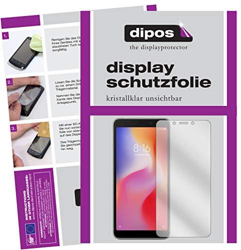 dipos I 2X Schutzfolie klar passend für Xiaomi Redmi 6A Folie Bildschirmschutzfolie