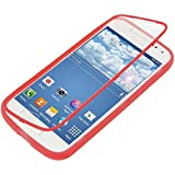 kwmobile TPU Silikon Hülle für Samsung Galaxy S4 Mini - Full Body Protector Cover Komplett Schutzhülle Case in Rot