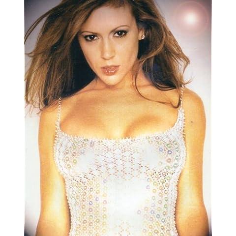 Alyssa Milano - Wearing a Sequin Top Photo Print (20,32 x 25,40 cm)