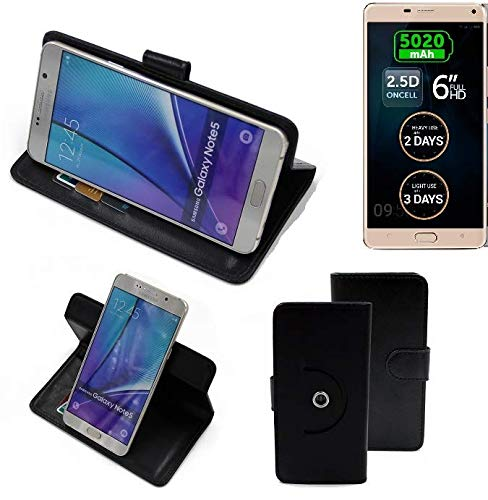 K-S-Trade® Hülle Schutzhülle Case für Allview P8 Energy Pro Handyhülle Flipcase Smartphone Cover Handy Schutz Tasche Bookstyle Walletcase schwarz (1x)