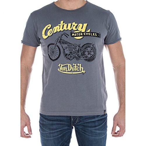 von-dutch-t-shirt-uomo-grigio-s