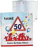alles-meine.de GmbH Geburtstag -  50 Jahre - Happy Birthday  - incl. Name - Erinnerungsalbum / Fotoalbum - Gebunden zum Einkleben & Eintragen - Album & Erinnerungsbuch - Fotobu..
