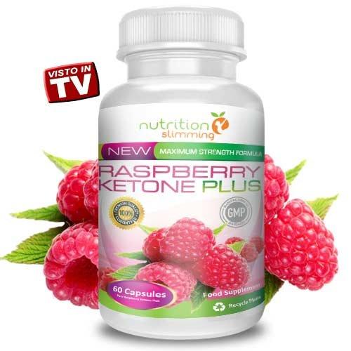 Raspberry Ketone Plus (1 mois) - Cétone Framboise PURE Raspberry Ketone TRES FORTE - le supplément de perte de poids qui contribue à rajeunir tandis que la combustion des graisses, plus puissant vendu en France - forte concentration de pur Frambuesas- cétone extrait 100% naturel - certificats d'efficacité, de qualité et de sécurité pour -convient végétaliens et les végétariens - 60 gélules -