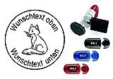 Geocachingstempel « niedlicher FUCHS » mit persönlichen Cachername / Nickname Runder Stempel Geocaching Pocketstempel