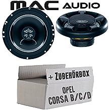 Lautsprecher Einbauset Ringe Adapter f/ür Opel Corsa C X01 11//2000-10//2006/130mm