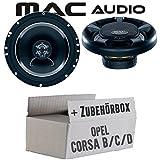 Opel Corsa B/C/D - Lautsprecher Boxen Mac-Audio Street - 16cm 280Watt Auto Einbausatz - Einbauset