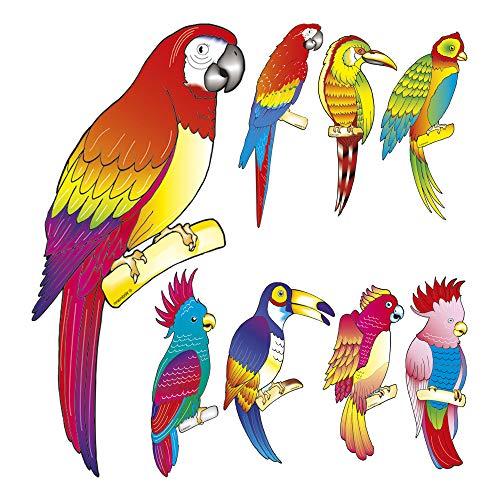Widmann 5059U Tropische Vögel Set, Mehrfarbig