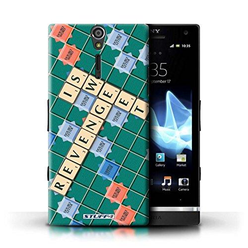 Kobalt® Imprimé Etui / Coque pour Sony Xperia S/LT26i / Connaître conception / Série Mots de Scrabble Douce Vengeance