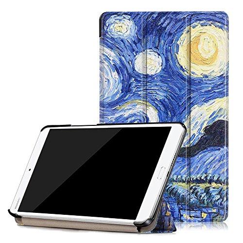 Preisvergleich Produktbild Huawei MediaPad M3 8.4 Cover Case,Slim- DETUOSI® Fit PU Leder Tasche Smart Cover Case für Huawei MediaPad M3 8.4 Zoll(2016 Edition) Hülle Schutzhülle Schale Etui Ledertasche mit Standfunktion