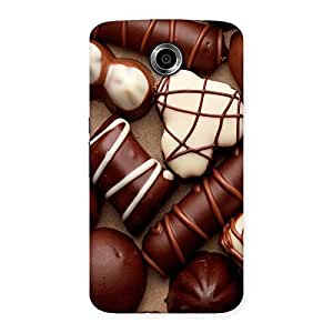Cute Chocolate Sweets White Brown Back Case Cover for Nexsus 6