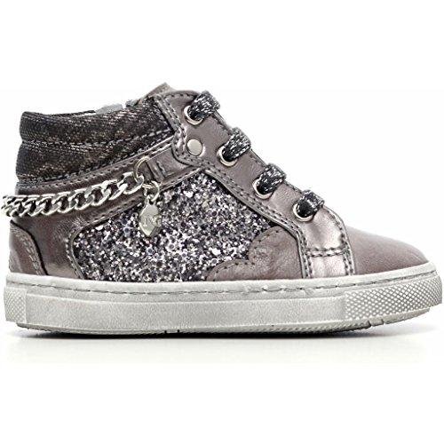 Nero Giardini Junior , Chaussures premiers pas pour bébé (fille) - gris - Brandon Grafite, 20 EU