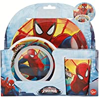 Spiderman Set Desayuno melamina sin Orla 3 Piezas (STOR 33490)