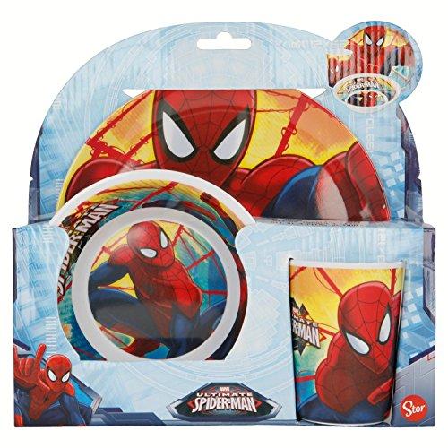 Spiderman–Set Frühstück Melamin, ohne Orla 3teilig, STOR 33490
