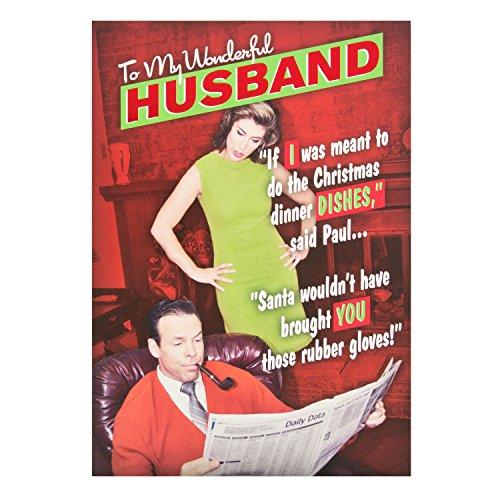 Hallmark Husband Weihnachten Karte 'Abendessen'-Medium (Folie Abendessen)