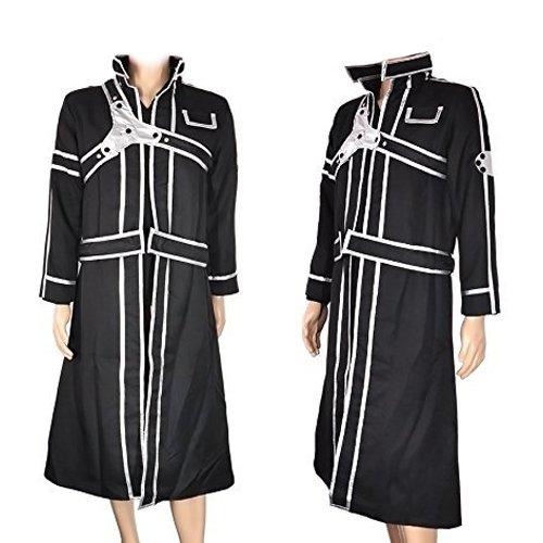 CoolChange Sword Art Online Mantel und Shirt von Kirito, Schwarz, Größe: L (Asuna Sword Art Online Kostüm)