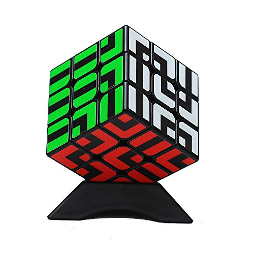 MZStech Nuevo diseño de Black Magic Classical 3x3x3 con Adhesivo Especial Laberinto