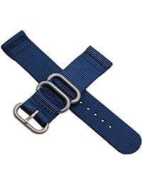 reloj de nylon bandas correas estilo de la NATO de grado superior 24mm reemplazos para los hombres azul marino ocasional militar duradera