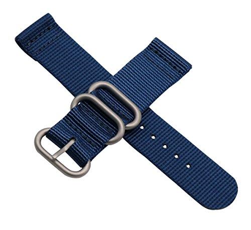 7dcd476becd 22 millimetri blu scuro Premium Deluxe della fascia dell orologio  braccialetto uomini stile NATO morbido
