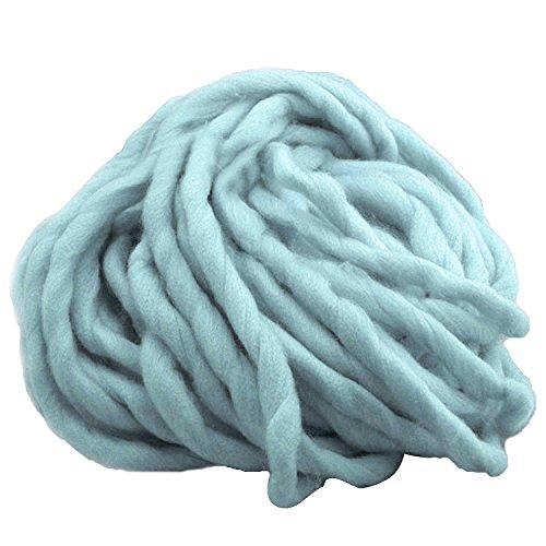 1 Strang Dicken Sperrige Klobig aus Weicher Baumwolle Superfine Faser Garn Hand Stricken Häkeln Weben Teppich Machen Baumwollgarn Blau - Baumwolle Teppich Garn