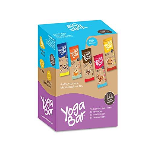 Yogabars Multigrain Energy Bars, Pack of 10 (Chocolate, Vanilla Almonds,...