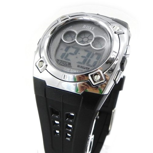 Wrist-watch-sport-Busy-black-chrome