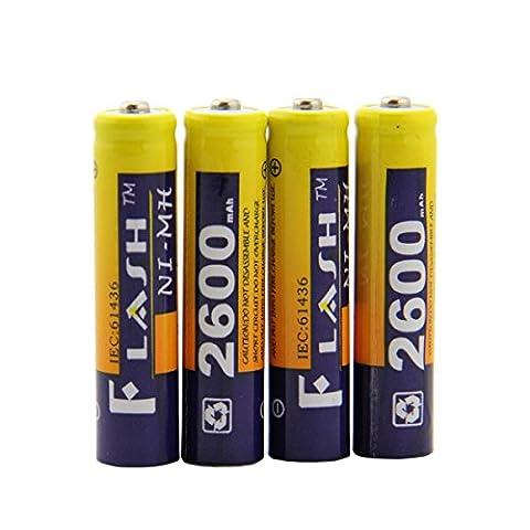 Batterie Rechargeable, OSAN Lot de 4PCS Batteries Piles 2600mah Nimh AAA Haute Capacité