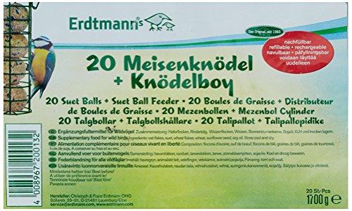 Erdtmanns 20 Meisenknödel ohne Netz plus 1 Knödelboy, 1er Pack (1 x 1.793 kg) Test