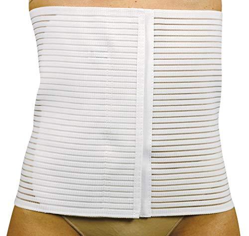 Manifattura bernina sana 55527 (taglia 3) - pancera post-operatoria contenitiva rigida traspirante foderata in cotone chiusura con velcro altezza 27cm