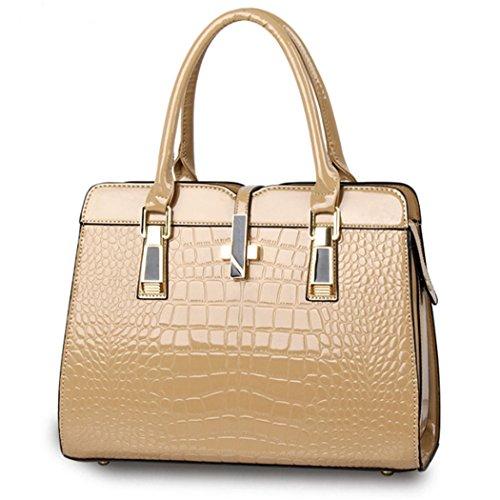 Borsa della borsa del hobo del cuoio del Faux della borsa della borsa della borsa della borsa delle donne Cachi