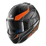 Shark Motorradhelm Hark Evo-One 2 Krono Mat, Schwarz/Orange, Größe M