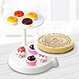 Homdox, alzata rotonda per torta, basamento per torta, etagere, fondente per torta nuziale
