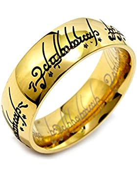 Herr der Ringe – Der eine Ring - Edelstahl vergoldet