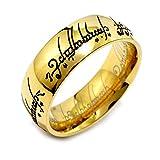 Silvego Ring Herr der Ringe - Der eine Ring – Edelstahl vergoldet
