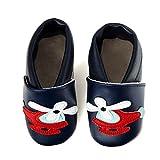 SmileBaby Premium Lauflernschuhe Krabbelschuhe Babyschuhe Baby Schuhe Blau Helikopter 18 bis 24 Monate