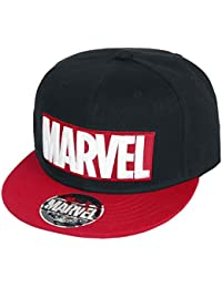 Marvel Logo Casquette Snapback noir/rouge