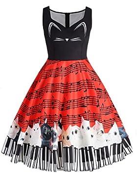 Faldas, Challeng ropa de moda a la calle Vestido elegante mujer tenedor lado Vestido de bolsillo de manga corta...