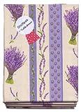 Stoffpak (Stoffpaket) - Lavendel & Co. - 4 Stücke (80 x 80