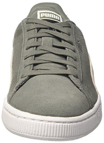 Puma Suede Classic + , Sneakers Basses Mixte Adulte Vert (Agave Green-puma White 07)